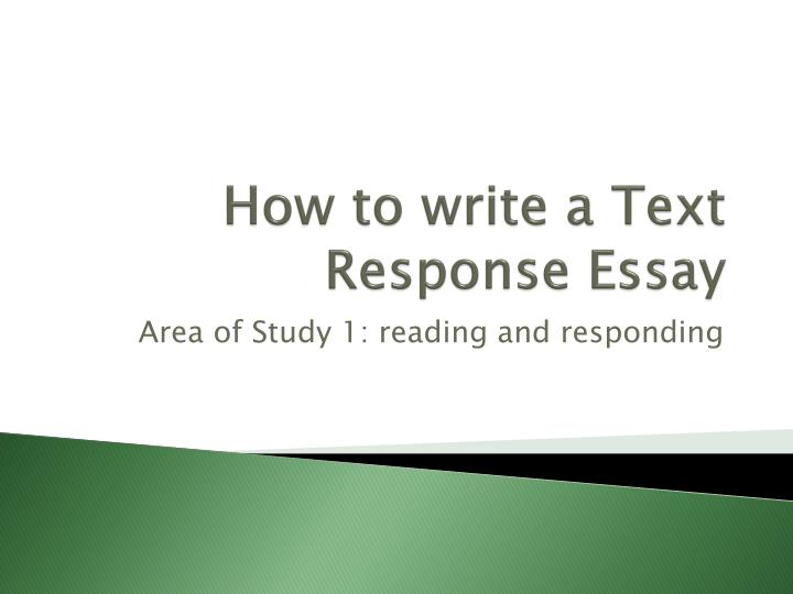 How do you write a text response essay?