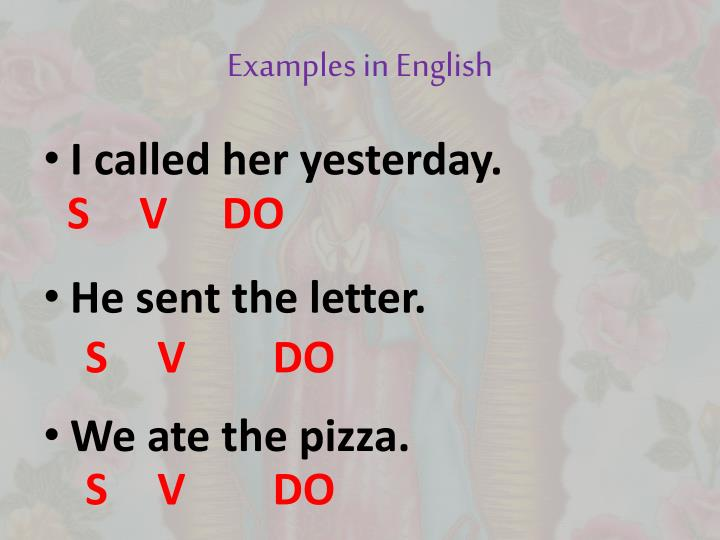 Examples in English