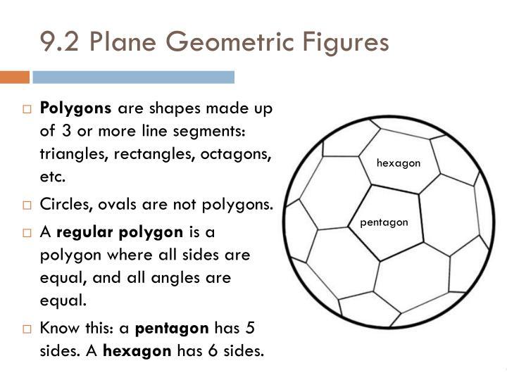 9.2 Plane Geometric Figures