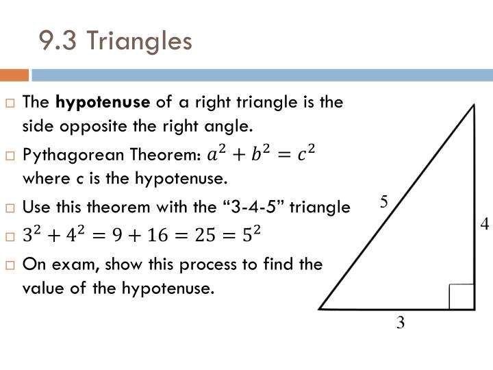 9.3 Triangles