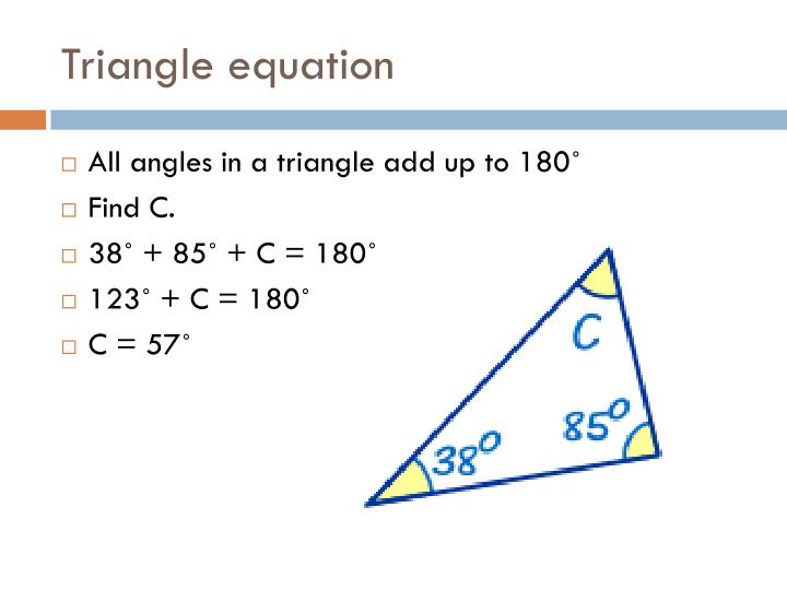 Triangle equation