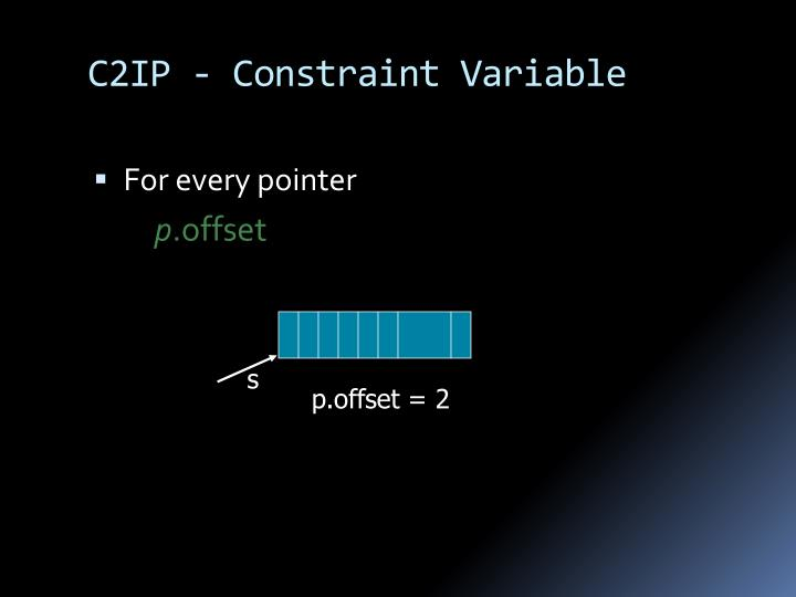 C2IP - Constraint Variable