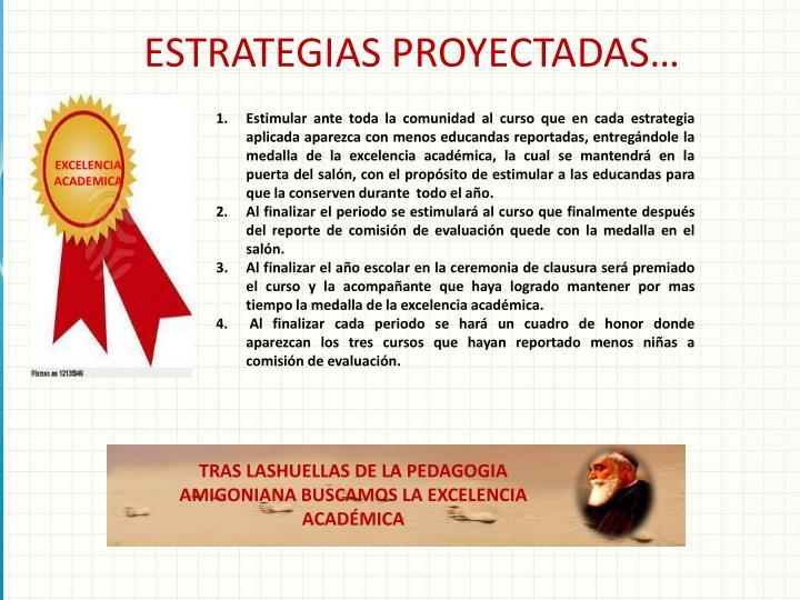 ESTRATEGIAS PROYECTADAS…