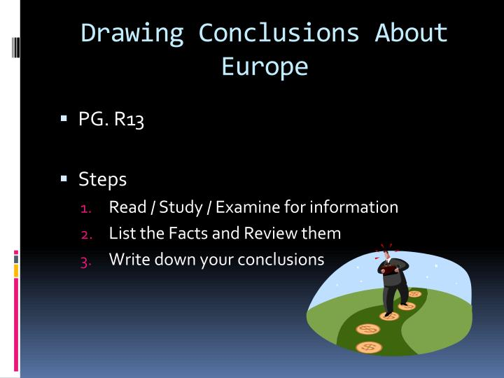 Drawing Conclusions About Europe