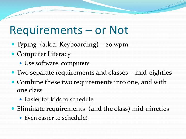 Requirements – or Not