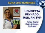sona 2010 nominees1