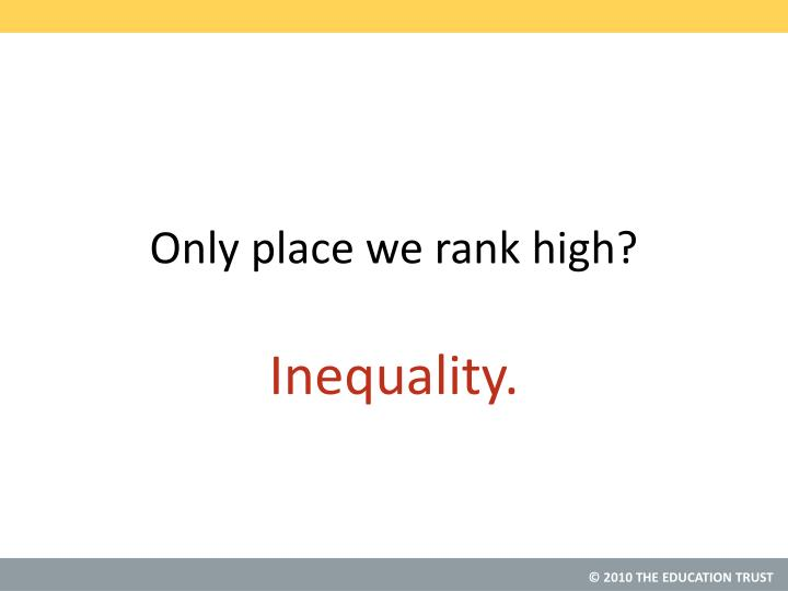 Only place we rank high?