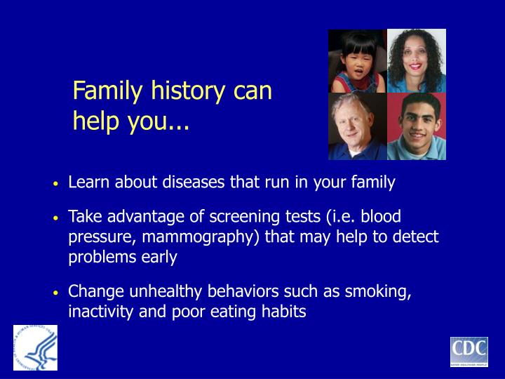 Family history can help you...