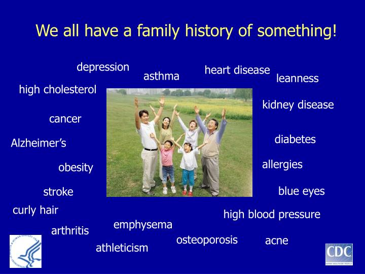 We all have a family history of something!