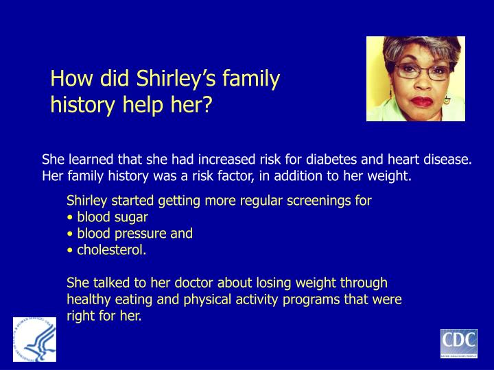 How did Shirley's family history help her?