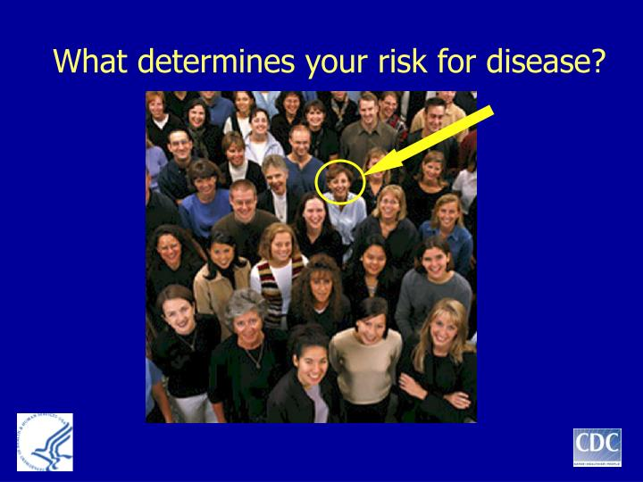 What determines your risk for disease?