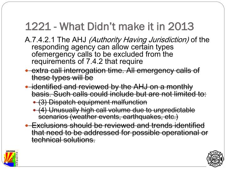 1221 - What Didn't make it in 2013