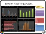 excel or reporting output