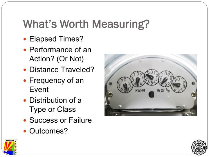 What's Worth Measuring?