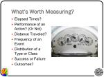 what s worth measuring