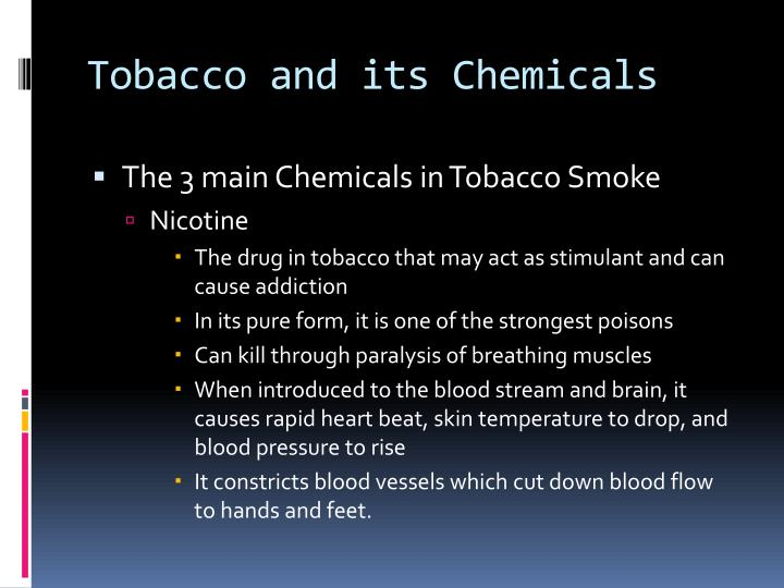 Tobacco and its Chemicals