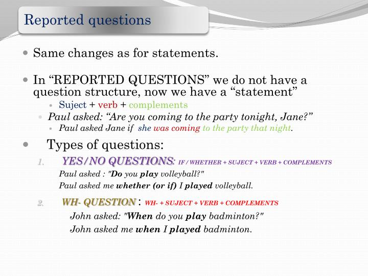Same changes as for statements.