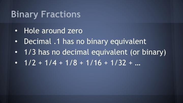 Binary Fractions