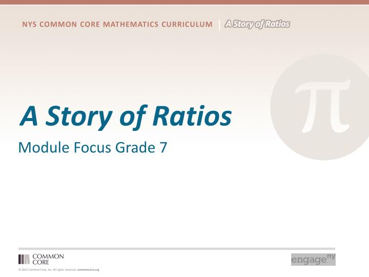 A Story of Ratios