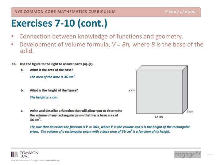 Exercises 7-10 (cont.)