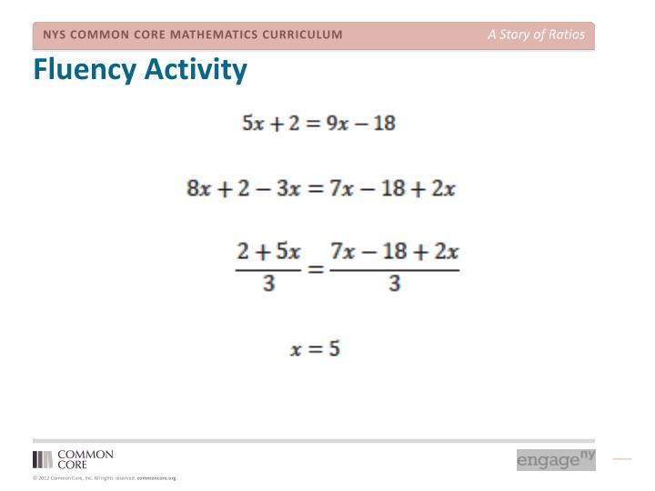 Fluency Activity