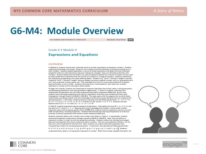 G6-M4:  Module Overview