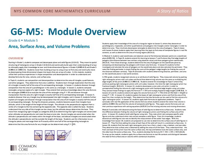 G6-M5:  Module Overview