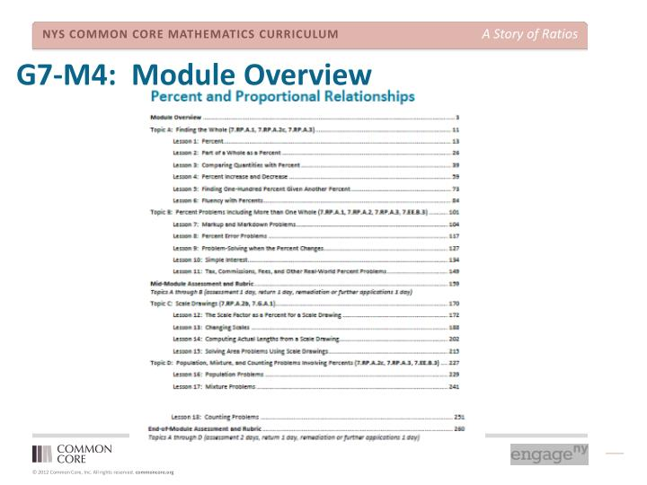 G7-M4:  Module Overview