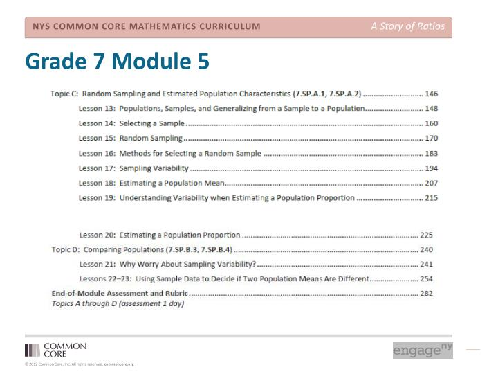 Grade 7 Module 5