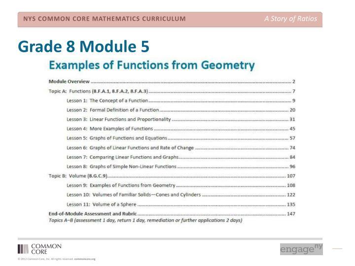 Grade 8 Module 5
