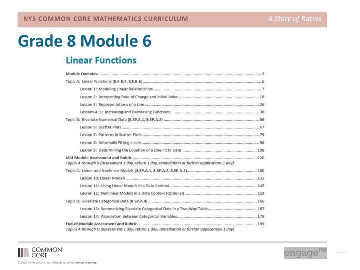 Grade 8 Module 6