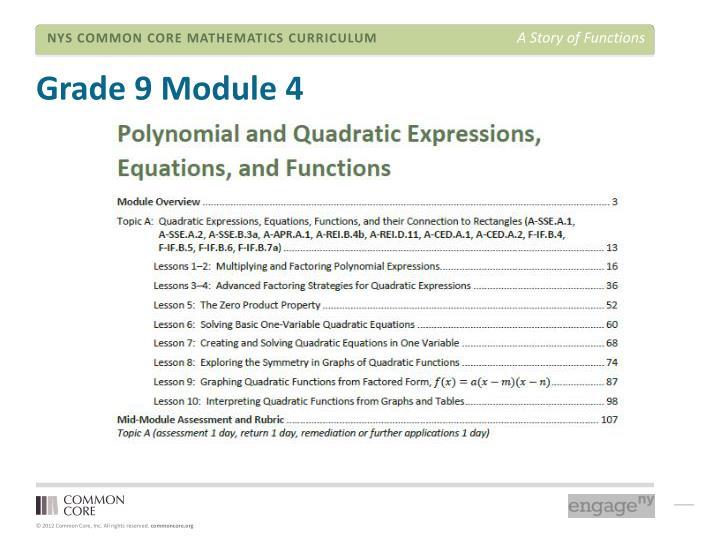 Grade 9 Module 4