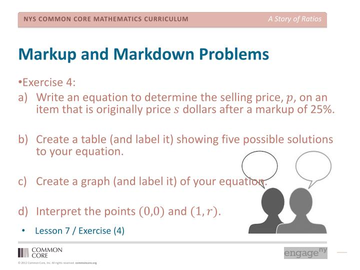 Markup and Markdown Problems