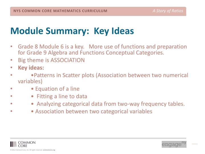 Module Summary:  Key Ideas