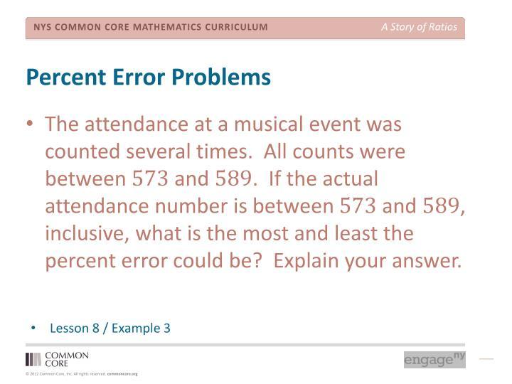 Percent Error Problems