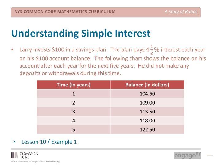 Understanding Simple Interest