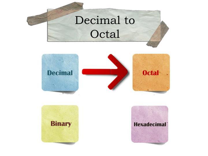 Decimal to Octa