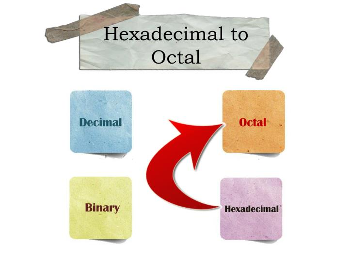 Hexadecimal to Octal