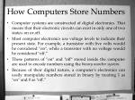 how computers store numbers