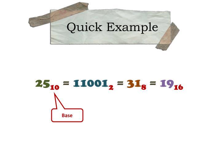 Quick Example