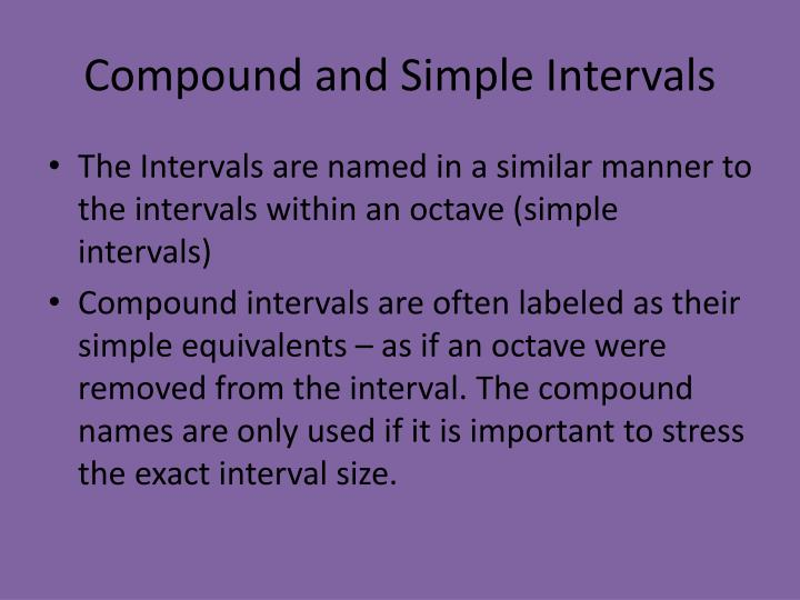 Compound and Simple Intervals