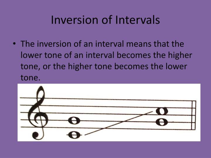 Inversion of Intervals