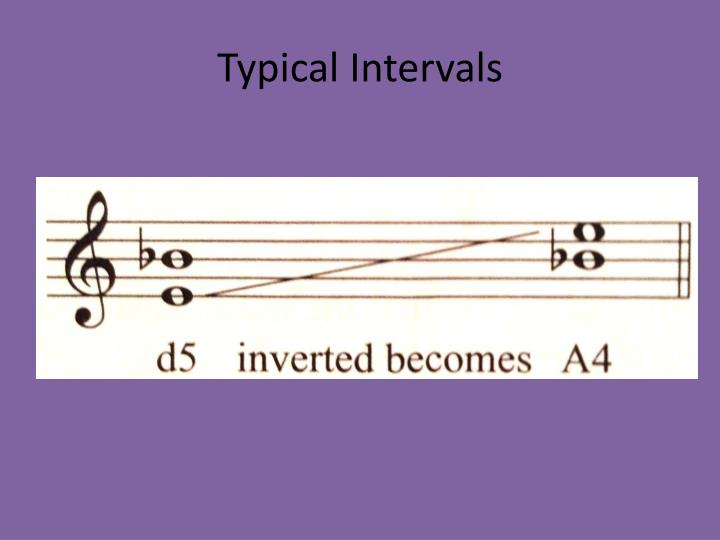 Typical Intervals