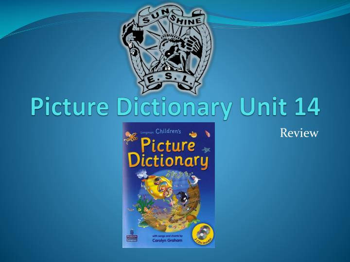 picture dictionary unit 14