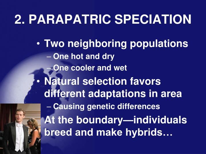 2. PARAPATRIC SPECIATION