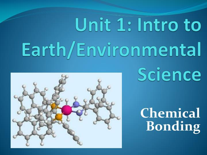 Unit 1 intro to earth environmental science