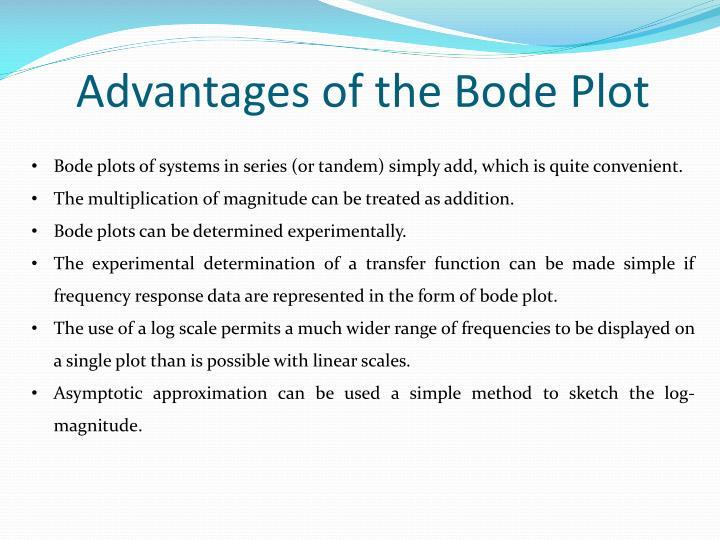 Advantages of the Bode Plot