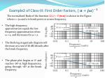 example2 of class iii first o rder factors