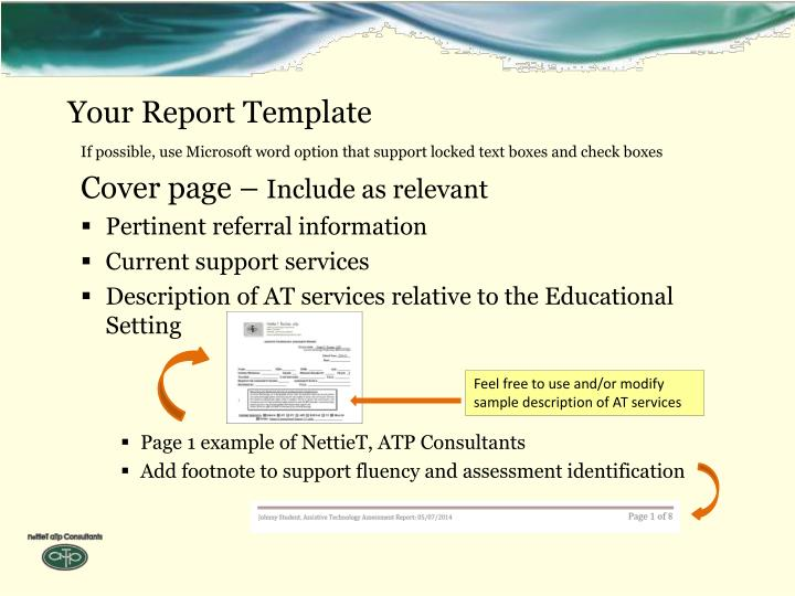 Your Report Template