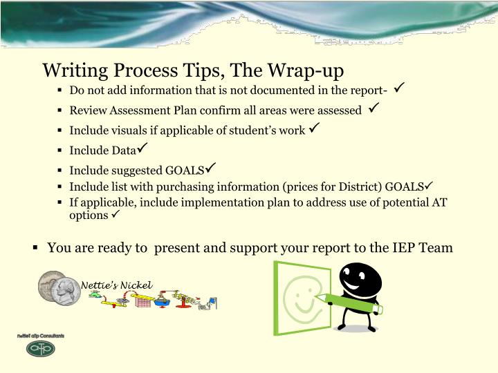 Writing Process Tips, The Wrap-up